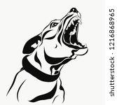 dog agressive barks | Shutterstock .eps vector #1216868965