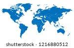 the world and sri lanka map | Shutterstock .eps vector #1216880512