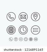 poster design contact vector... | Shutterstock .eps vector #1216891165
