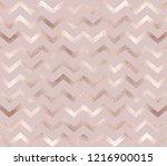 geometric rose gold chevron... | Shutterstock .eps vector #1216900015