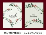 happy holidays card template... | Shutterstock .eps vector #1216914988