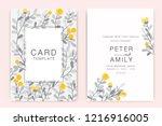 wedding invitation  floral... | Shutterstock .eps vector #1216916005