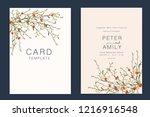 wedding invitation  floral... | Shutterstock .eps vector #1216916548