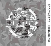 land on grey camo texture | Shutterstock .eps vector #1216917208
