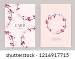 wedding invitation  floral... | Shutterstock .eps vector #1216917715