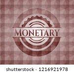 monetary red seamless badge... | Shutterstock .eps vector #1216921978