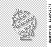 simple globe symbol. white... | Shutterstock .eps vector #1216925275