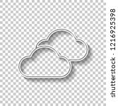 mostly cloudy icon. simple...