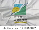 fabric flag of guadeloupe...   Shutterstock . vector #1216932022