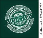 monetary written with... | Shutterstock .eps vector #1216935712