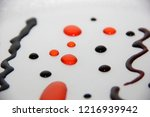 abstract food coloring art   Shutterstock . vector #1216939942