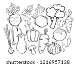 hand drawn illustration with... | Shutterstock .eps vector #1216957138