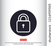 lock vector icon 10 eps | Shutterstock .eps vector #1216959505