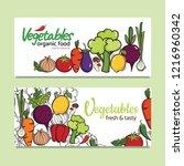 banners design with vector... | Shutterstock .eps vector #1216960342