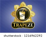 golden emblem or badge with... | Shutterstock .eps vector #1216962292