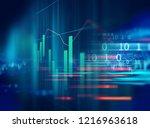 financial stock market graph... | Shutterstock . vector #1216963618
