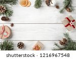 creative frame made of... | Shutterstock . vector #1216967548