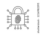 electronic lock with... | Shutterstock .eps vector #1216982395