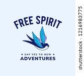 motivation freedom quote design ... | Shutterstock .eps vector #1216983775