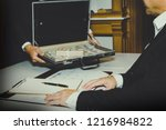 concept corruption and getting... | Shutterstock . vector #1216984822