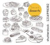 hand drawn vector illustrations ... | Shutterstock .eps vector #1216998382