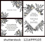 invitation greeting card with... | Shutterstock .eps vector #1216999105