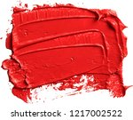 textured red oil paint brush... | Shutterstock .eps vector #1217002522