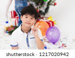 asian boy smile happy handsome... | Shutterstock . vector #1217020942