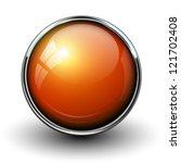 Orange Shiny Button With...