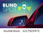 blind spot assist cartoon...   Shutterstock .eps vector #1217025472