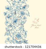 seamless pattern with flowers... | Shutterstock .eps vector #121704436