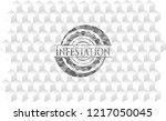 infestation grey emblem. retro...   Shutterstock .eps vector #1217050045