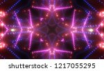 neon pink lights background.... | Shutterstock . vector #1217055295