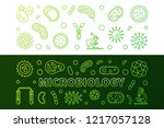 microbiology green horizontal... | Shutterstock .eps vector #1217057128