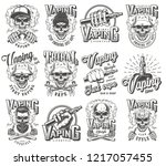vintage vaping labels... | Shutterstock .eps vector #1217057455