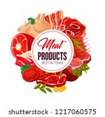 meat products poster for... | Shutterstock .eps vector #1217060575