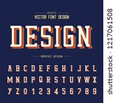 font and alphabet vector  style ... | Shutterstock .eps vector #1217061508