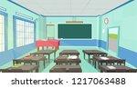 classic classroom flat... | Shutterstock .eps vector #1217063488