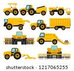 flat vecto set of yellow... | Shutterstock .eps vector #1217065255