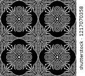 black and white seamless... | Shutterstock .eps vector #1217070358