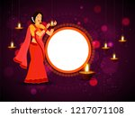 happy diwali poster or banner... | Shutterstock .eps vector #1217071108