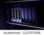 slot hard disk sas server.blade ...   Shutterstock . vector #1217072908