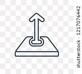 upload vector outline icon... | Shutterstock .eps vector #1217076442