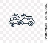 crash vector outline icon... | Shutterstock .eps vector #1217078002