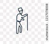 elderly vector outline icon...   Shutterstock .eps vector #1217078008