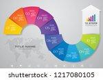 10 steps of arrow infografics...   Shutterstock .eps vector #1217080105