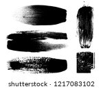 grunge paint stripe . vector... | Shutterstock .eps vector #1217083102