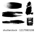 grunge paint stripe . vector... | Shutterstock .eps vector #1217083108