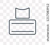 tissues vector outline icon... | Shutterstock .eps vector #1217083912