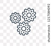 cogwheel vector outline icon... | Shutterstock .eps vector #1217084092